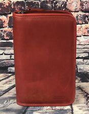 Vintage Coach Red Leather Zip Around Tech Case Planner Organizer