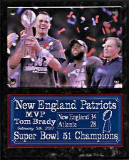 New England Patriots Super Bowl 51, LI champions plaque