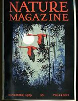 Nature Magazine November 1929 VG No ML 020617jhe