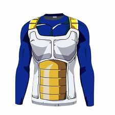 Dragon Ball Vegeta Costume Men's T-Shirt Sports Long Sleeve Cycling Jersey Sz M