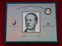 1997 NPA - Kingsford Smith Portfolio. Last Prefix $20 Note & Silver $1 Coin.