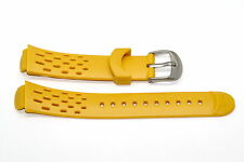NIKE TRIAX 10 REGULAR YELLOW REPLACEMENT RUBBER WATCH BAND