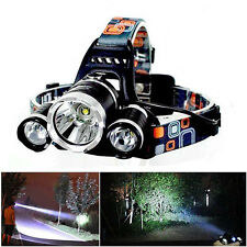 6000lm 3x XM-L T6 LED Flashlight Rechargeable Headlamp Headlight Torch Exquisite