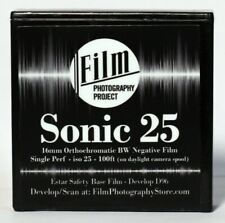 16MM FILM - FPP SONIC25 BW NEGATIVE 25 ISO - 100 FT (30m) SINGLE PERF - FRESH