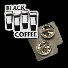 Black Coffee Soft Enamel Pin Bort'S Pin Emporium