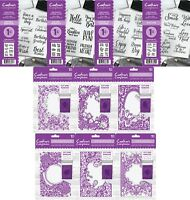 NEW Crafters Companion 5x7 Cut & Emboss Folder or A6 Rubber Stamps