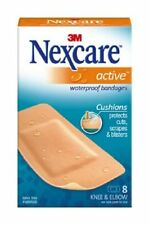 Nexcare Waterproof Cushioned Foam Bandages Knee & Elbow 8 Each (Pack of 6)