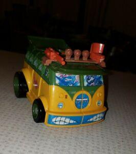 *RARE* TMNT Mini Mutants PARTY WAGON Playset Teenage Ninja Turtles 1995 Micro