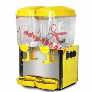 Juice Beverage Dispenser 18L Cold/Hot Drink Stainless Bubbler Ice 110V/220V