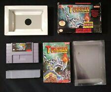 Super Turrican (Super Nintendo SNES, 1993) COMPLETE IN BOX CIB