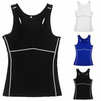 Women Body Shaper Compression Slim Vest Yoga Fitness Tight T-Shirt Tops Sports