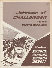 1969 JOHNSON  CHALLENGER  SNOWMOBILE  PARTS MANUAL P/N 261059 (636)