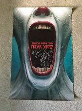 American Horror Story Freakshow Pepper & Stanley cast signed autograph poster