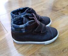 Mini Boden Boys Leather Hi Tops Trainers Shoes EU 24 UK 7. BRAND NEW