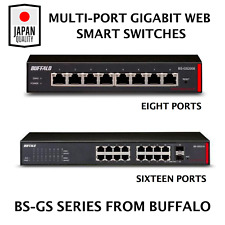 Buffalo Multi-Port Gigabit Web SMART SWITCH 8 / 16 Ethernet Ports Hub VLAN SNMP