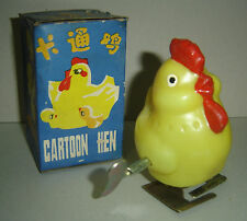 WIND UP CARTOON HEN VINTAGE POULE DESSIN ANIME CHINA IN BOX VINTAGE 1970 TOY