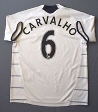 4/5 CHELSEA #6 CARVALHO 2009-2010 FOOTBALL THIRD SHIRT JERSEY ADIDAS KIDS 7-8 Y.