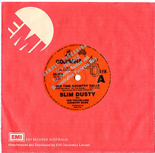 """SLIM DUSTY - OLD TIME COUNTRY HALLS - RARE PROMO 7"""" 45 VINYL RECORD 1983"""