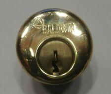 "Baldwin 8321 1"" Mortise Lock Cylinder, Polished Brass"