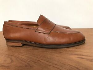 Mens Polo Ralph Lauren tan leather loafers shoes 9.5 10  43 44