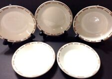 Wallace China Bowls Set Of 5 Brown Restaurant Ware Soup Cereal Unique Design