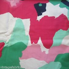 VINTAGE FABRIC QUILT CRAFT SEW DRESS JOHN KALDOR CRAZY CAMO 1980S RETRO COTTON