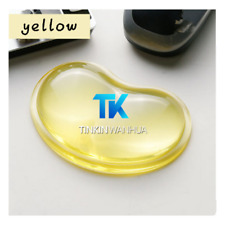 Gel Wrist Wavy Mouse Pad Support for Desktop Laptop Computer Accessories Yellow