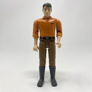 "2010 Bruder 60007 Bworld Man with Orange Shirt Brown Pants 4.25"" Toy Figure"