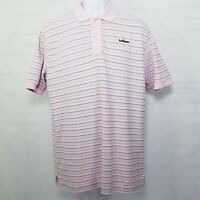 Hollister Mens Polo Shirt Short Sleeve Striped Pink Size XXL