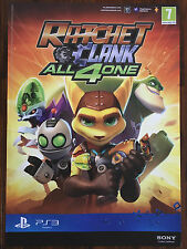 Ratchet & Clank All 4 One PS3 Genuine Official Video Game Promo Poster 43x60cm