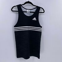 Adidas mens double up tank top sz S Small Black