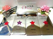 Carded DIOR Addict Stellar Shine Lipstick Samples Lot of 4 Card + Lip Brush NEW!