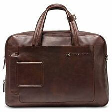 Piquadro Expandable Computer Portfolio Briefcase with Notebook Compartment, Dark