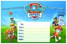 1 x PAW PATROL CHILDRENS BLANK FILL IN DIY BIRTHDAY INVITATIONS + FREE MAGNETS