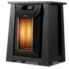 1500W Home Bedroom Electric Space Heater Portable 12H Timer Caster Office Room