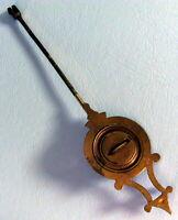 Ancien Balancier Régulateur, Pendule, Cartel, Horloge ou Comtoise 16 cms, 23 grs