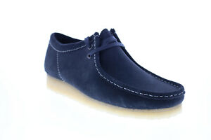 Clarks Wallabee 26154744 Mens Blue Suede Lace Up Chukkas Boots