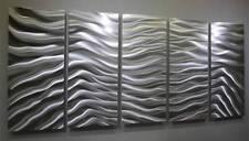 Modern Metal Abstract Silver Wall Art Sculpture Home Decor Original Jon Allen