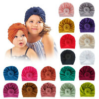 Infant Kids Headband Hat Cotton Turban Hat Donuts Knot Head Wrap Beanie Hat 1x