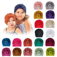 Infant Kids Headband Hat Cotton Turban Hat Donuts Knot Head Wrap Beanie Hat 1x