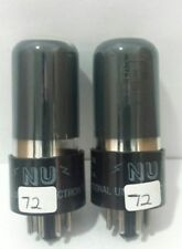 Date Matching National Union  50L6 GT Vacuum Tubes Tested New Calibrated TV 7  !