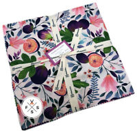 """Clothworks, Amethyst Garden, 10"""" Fabric Quilting Squares, Layer Cake"""