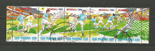 San Marino 1994 bande de 5 timbres oblitérés coupe du monde de Football /T5016