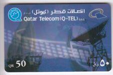 ASIE  TELECARTE / PHONECARD .. QATAR 50QR Q-TEL ANTENNE PARABOLE SATELLITE 02/01