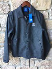 Vtg Adidas Snap Up Jacket NEW Sample Coat Gray Athletic Mens Large