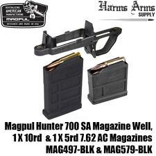 MAGPUL HUNTER 700 Mag Well +10 & 5 round Magazines 7.62 AC AICS SA MAG497 MAG579