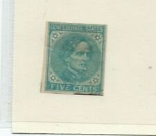 A very nice Confederate States 5 Cents Blue issue