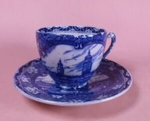 NEWCASTLE UPON TYNE MALING CUP & SAUCER c.1929 - North East Coast Industries Ex.