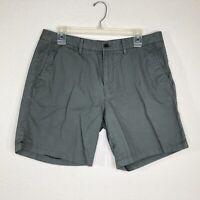 "Bonobos Men's 34 Gray Chino Shorts Casual Cotton Inseam 7"" Flat Front"