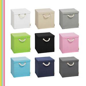 (Storanda) Aufbewahrungsbox LEO + Deckel | Faltbox | 30x30x30 cm | Neuware